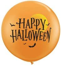 3ft Giant Balloons -  Happy Halloween 3ft Latex Balloon 1pc
