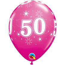 50 Sparkle Pink - 11 Inch Balloons 25pcs