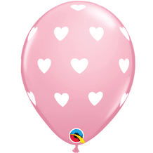 Big Hearts Balloons (Pink & White Ink) - 11 Inch Balloons 6pcs