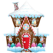 """Gingerbread House - Large Christmas Balloon (37"""") 1pc"""