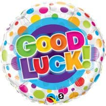 "Good Luck Dots Foil Balloon (18"") 1pc"