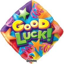 "Good Luck Streamers Foil Balloon (18"") 1pc"