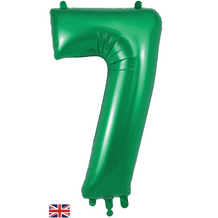 """Green Number 7 Balloon - Foil Number Balloon 1pc (34"""" Oaktree)"""