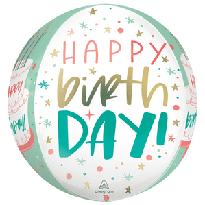 Happy Cake Day Orbz Foil Balloons - Free Delivery available