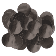 Metallic Black Foil Confetti | 25mm Metallic Round | 50g Bag