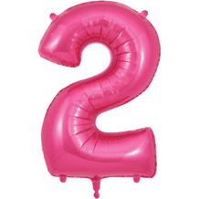 """Pink Number 2 Balloon - Foil Number Balloon 1pc (34"""" Oaktree)"""