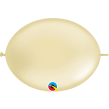 Qualatex Quick Link Balloons - 6 Inch Pearl Ivory Quick Link Balloons (50pcs)