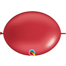 Qualatex Quick Link Balloons - 6 Inch Pearl Red Quick Link Balloons (50pcs)