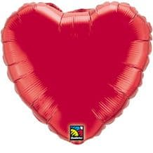 """Red Heart Foil Balloon (36"""") 1pc"""