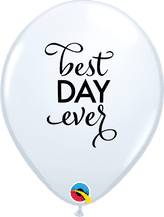 Simply Best Day Ever Balloons (White) - 11 Inch Balloons 25pcs