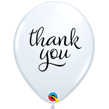 Simply Thank You Balloons (White) - 11 Inch Balloons 25pcs