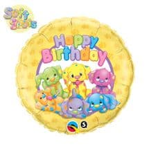 "Soft Spots Birthday Foil Balloon (18"") 1pc"