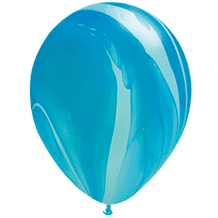 SuperAgate Balloons - Blue Rainbow (11 Inch) 25pcs