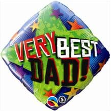 "Very Best Dad Stars Foil Balloon (18"") 1pc"