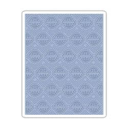 660241 Sizzix Texture Fades Embossing Folder - Globes by Tim Holtz