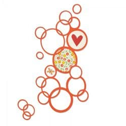 661166 Sizzix® Thinlits™ Die -  Bright Bubbles by Emily Atherton