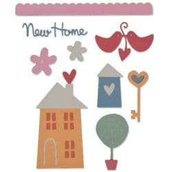 661230 - Sizzix Thinlits Die Set 10PK - New Home by My Life Handmade