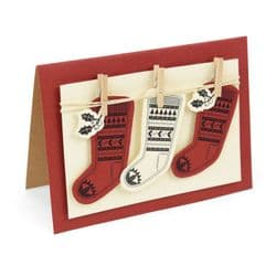 662166 - Sizzix Framelits Die Set 2PK w/Stamp - Fairisle Stocking
