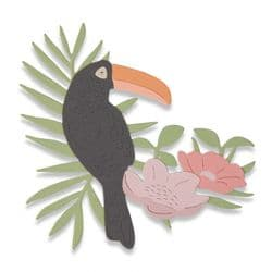 662544 Sizzix Thinlits Die - Tropical Bird by Sophie Guilar