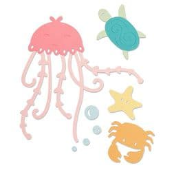 663363 Sizzix Thinlits Die Set 5PK - Under the Sea by Olivia Rose