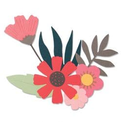 663437 - Sizzix Thinlits Die Set 9PK - Free Style Florals by Sophie Guilar