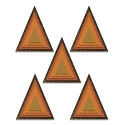 664748 - Sizzix Thinlits Die Set 25PK - Stacked Tiles, Triangles - by Tim Holtz