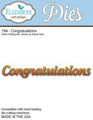 784 Elizabeth Craft Designs - Congratulations