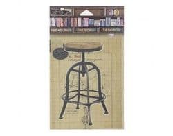 7Gypsies - Architextures - Treasures - Drafting Stool