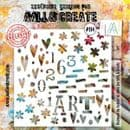 AALL and Create 6x6 Stencil #114 - Art by Janet Klein
