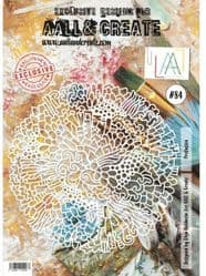 AALL and Create A4 Stencil  #84 Profusion by Olga Heldwein