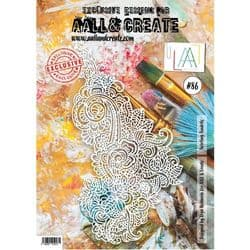 AALL and Create A4 Stencil  #86 Twirling Tendrils by Olga Heldwein