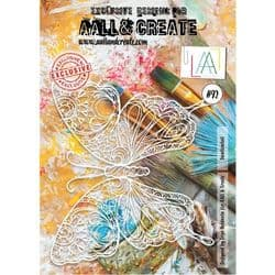 AALL and Create A4 Stencil - #92 - Swallowtail by Olga Heldwein