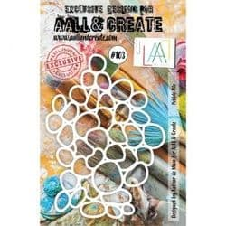 AALL and Create A5 Stencil - #103 Pebble Pile by Autour de Mwa