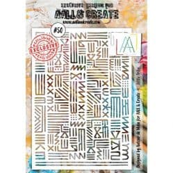 AALL and Create A5 Stencil - #50 Little Tribe by Autour de Mwa