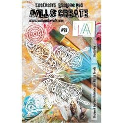 AALL and Create A5 Stencil - #98 - Flutterby by Olga Heldwein