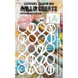 AALL and Create A6 Stencil - #101 Secret Numbers by Autour de Mwa