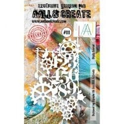 AALL and Create A6 Stencil - #111 Digits Geared by Bipasha BK