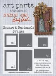 Art Parts (a division of Studio 490 by Wendy Vecchi) - Square & Rectangle Frame *SALE*
