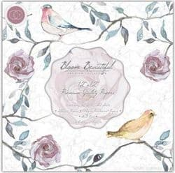 Bloom Beautiful Premier Collection 12 x 12 Paper Pad