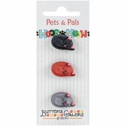 Buttons Galore Pets and Pals - Cats Laying