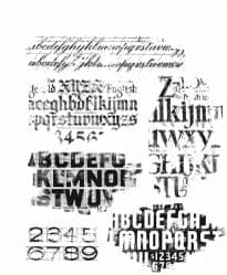 CMS397 Tim Holtz Cling Mounted Stamp Set - Faded Type