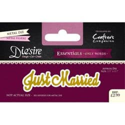 Crafters Companion Die'sire Essentials Only Words Die - Just Married