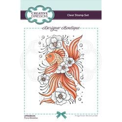 Creative Expressions - Designer Boutique Collection - A6 Clear Stamp - Floral Bubbles