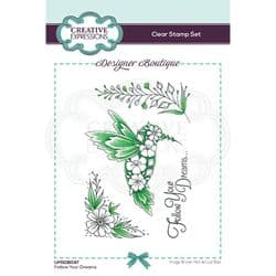 Creative Expressions - Designer Boutique Collection - A6 Clear Stamp - Follow Your Dreams