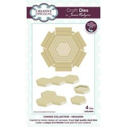 Creative Expressions - Jamie Rodgers Canvas Collection - Hexagon