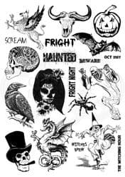 Creative Expressions - Mixed Media Transfers by Andy Skinner - Horror