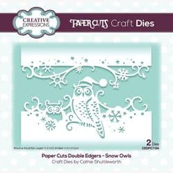 Creative Expressions - Paper Cuts Double Edger Die - Snow Owls