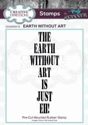 Creative Expressions - Rubber Stamp by Andy Skinner - Earth Without Art