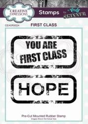 Creative Expressions - Rubber Stamp by Andy Skinner - First Class