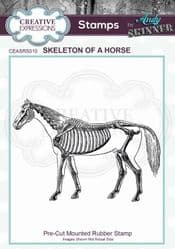 Creative Expressions - Rubber Stamp by Andy Skinner - Skeleton of a Horse